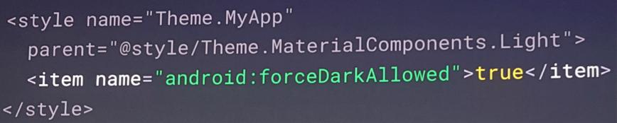 codigo dark theme