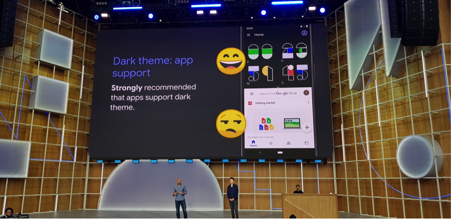 dark theme app support io19