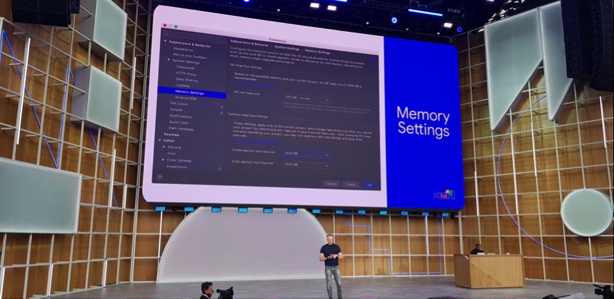 google io memory settings android studio 35