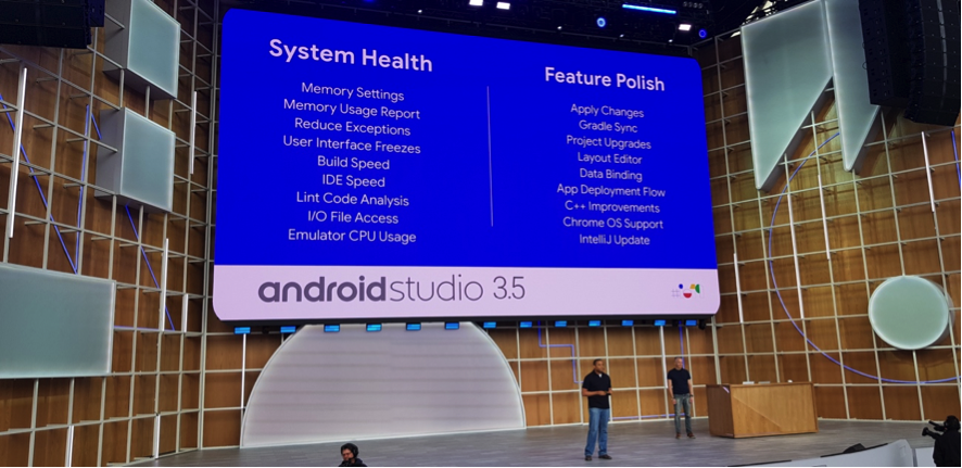 google io novedades android studio 35