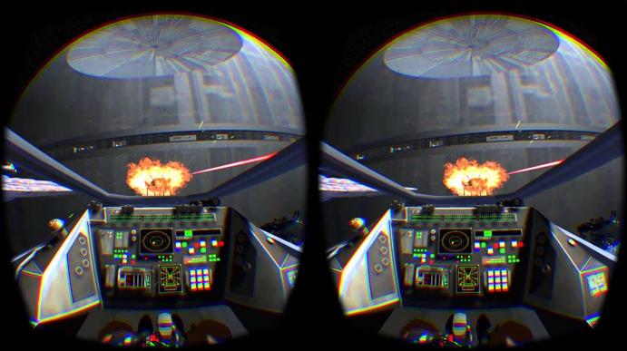pantalla visor realidad virtual